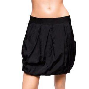 Theory Helika Mini Skirt 4 Black Small Pleated